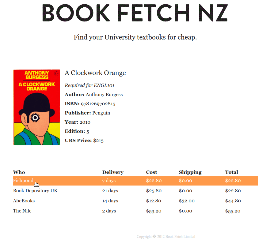 Bookfetch book details page