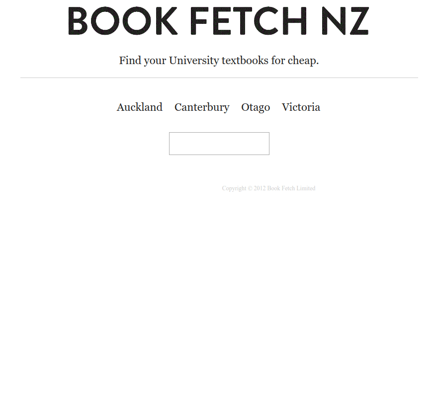 Bookfetch home page
